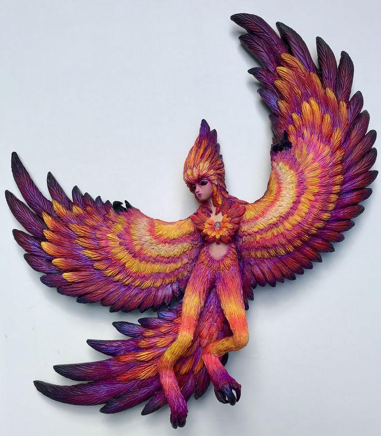 Flames - phoenix, mythology, sculpture - christinekharris | ello