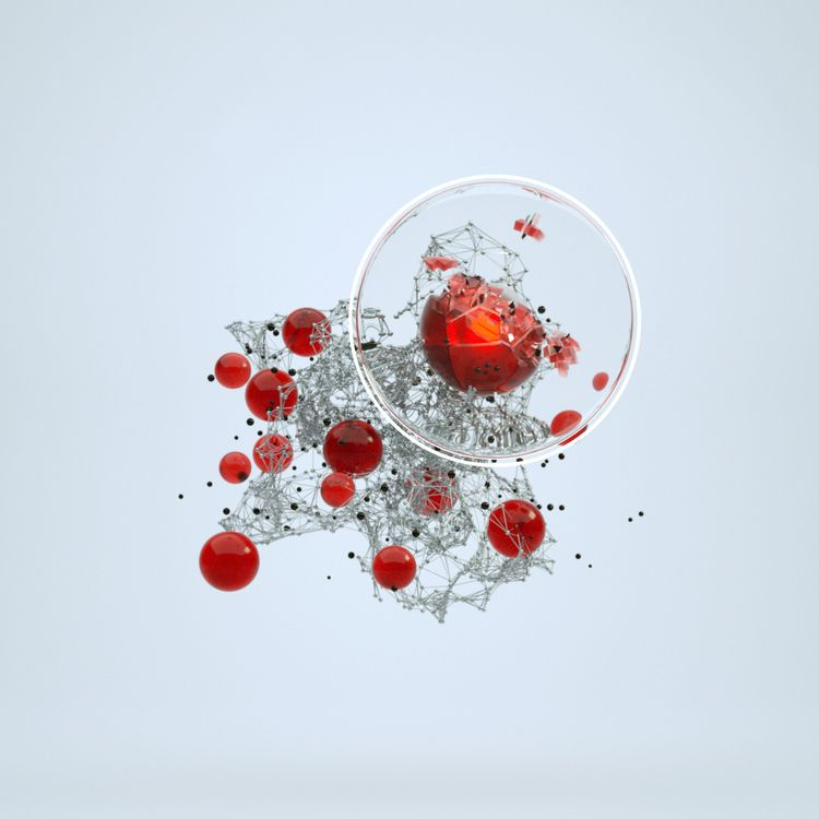 SCATTER - cinema4d, red, sphere - tahacy | ello