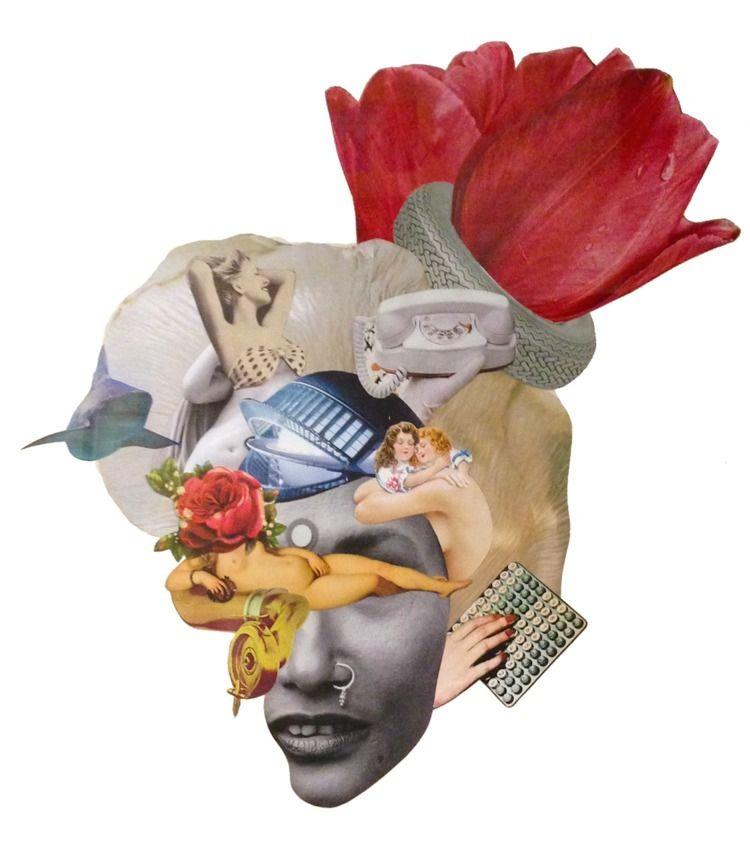 SOMIERS - handmade, collage, collageart - rebeka_elizegi | ello