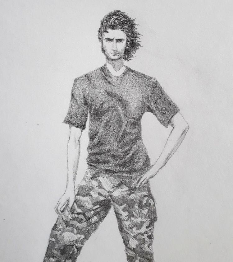 husband teenager - pencil, pencilart - lightnin88 | ello