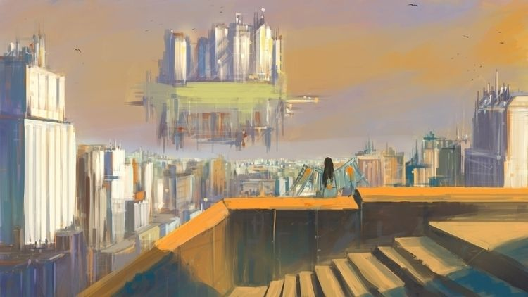 City sky - art, harismujkic, digitalpainting - mujkicharis   ello