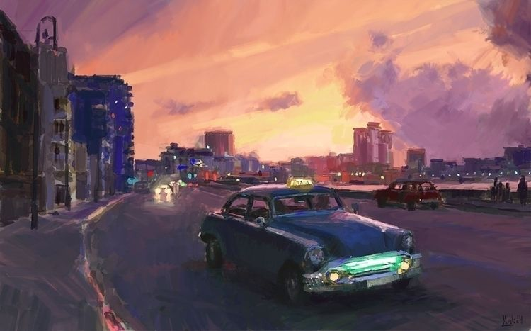 Havana sunrise Sketch, photo st - mujkicharis | ello