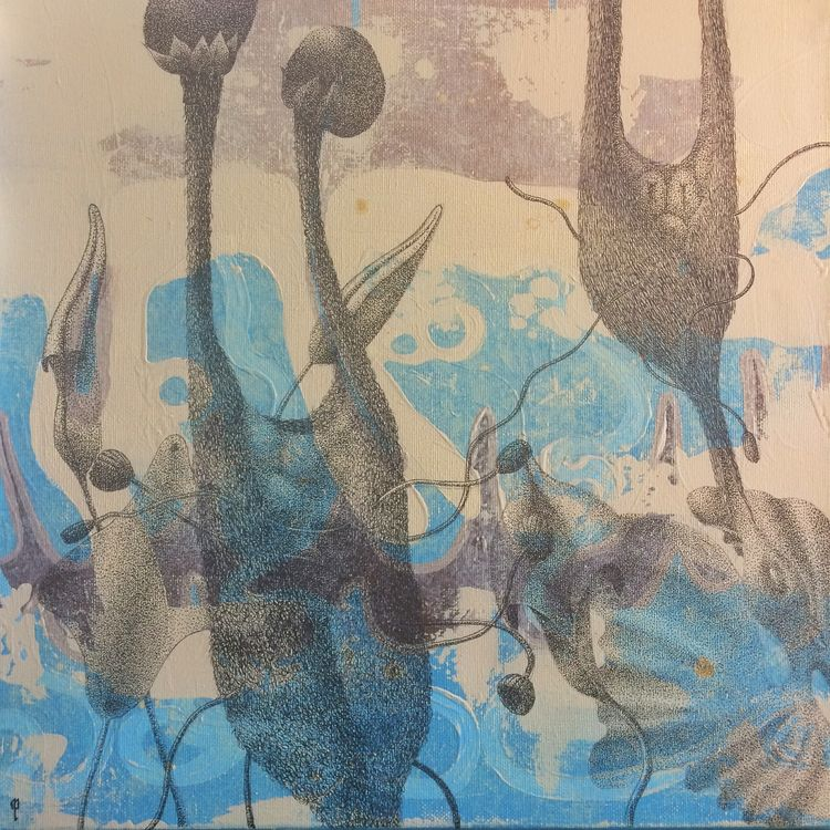"""Wombs 02"" - Acrylic ink(dot wo - melanie_pasquier | ello"