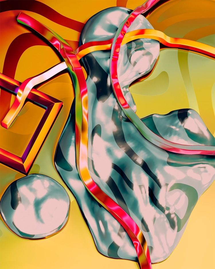 abstract, art, shapes, iridescent - kolotusha | ello