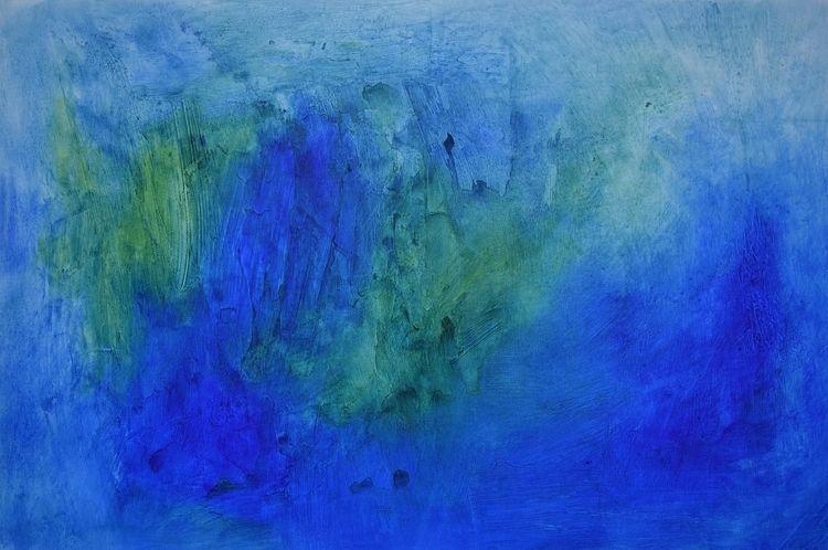 Islands Blue Original acrylic p - createdbychrista | ello