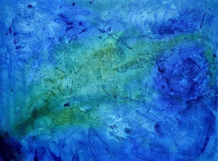 Earth Water Original acrylic pa - createdbychrista | ello