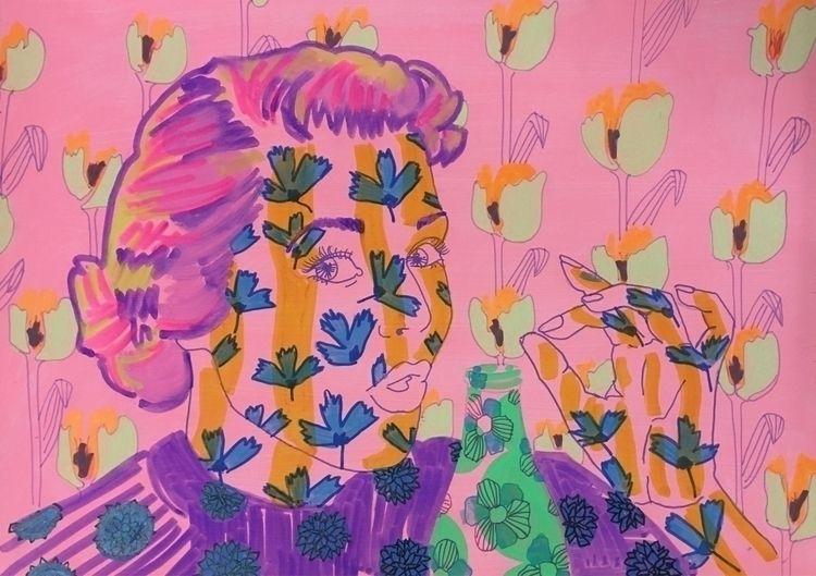 acrylic felt pen paper 20x30cm - birdyy | ello