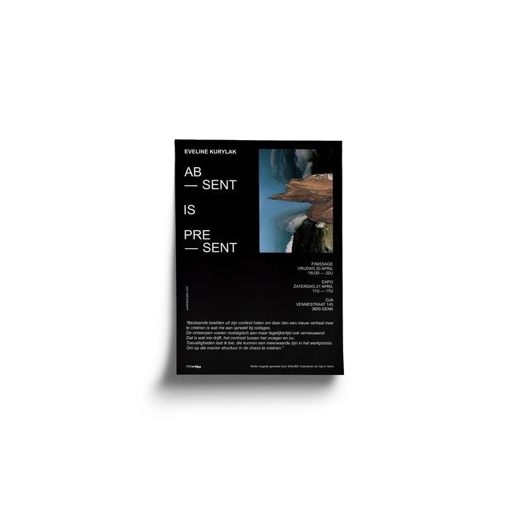 Poster designed ABSENT PRESENT  - evelinekurylak | ello