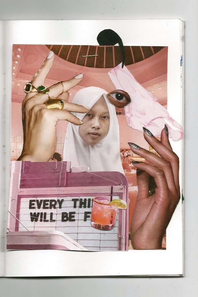 sketchbook, collage, scan, pink - augustbay | ello