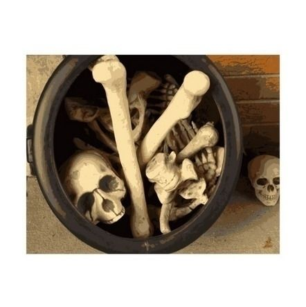 Caldron bones. illustration pho - someartworker | ello