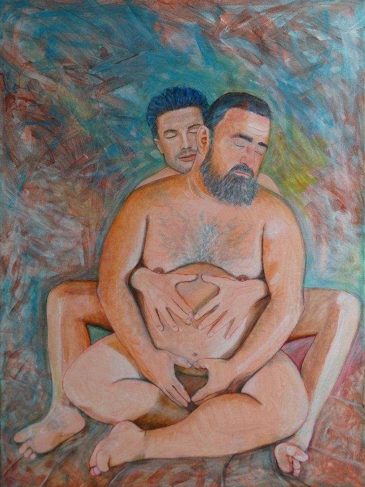 Alex Acrylic canvas 80 cm 60 - gay - loic-le-phoque-fringant | ello