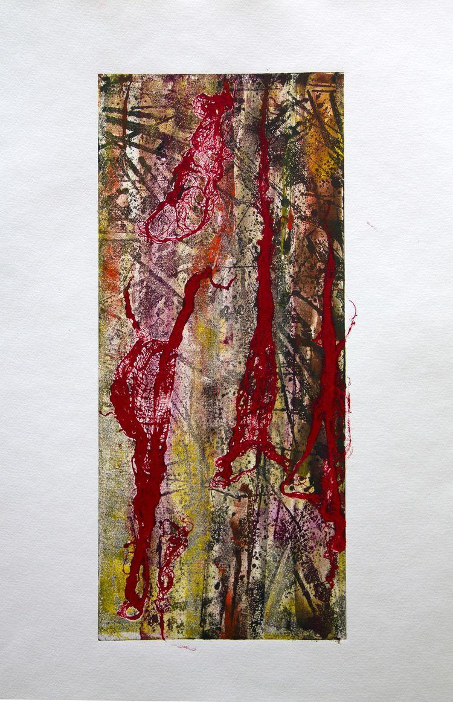 printmaking, abstract, art, monotype - elekz   ello