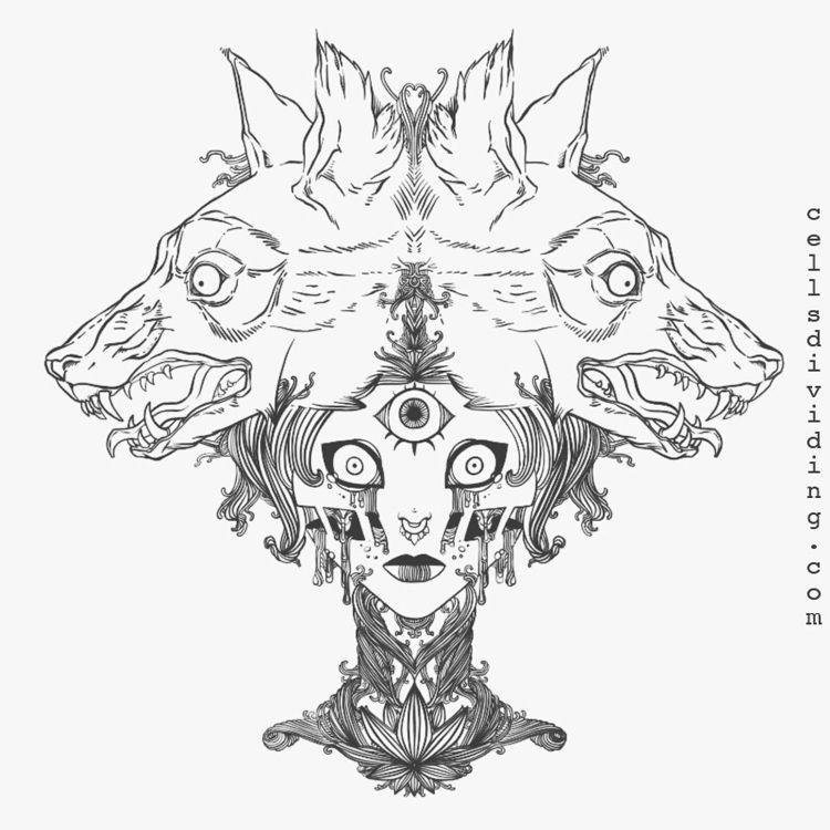 Line art illustration, Voodoo P - cellsdividing | ello