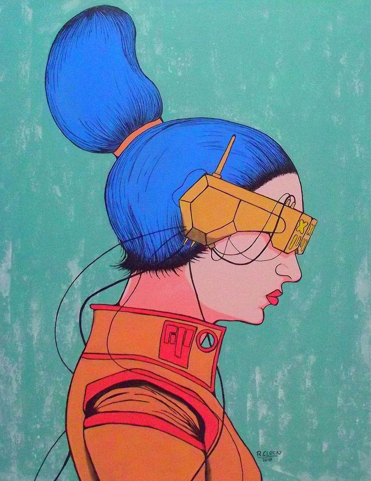 Humans Technology - Cyber Acryl - robsonclecio | ello