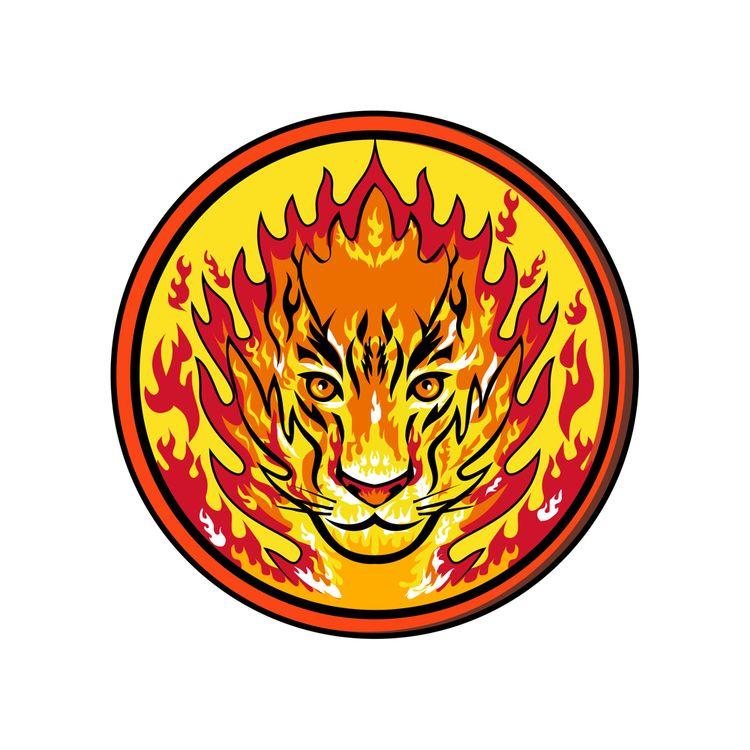 Flaming Tiger Head Icon - TigerHead - patrimonio | ello