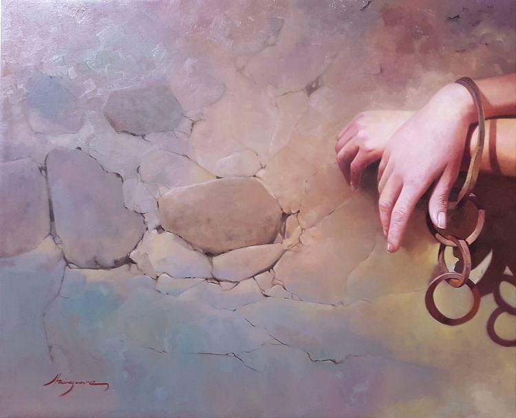 Prisoner wishes 65x81 cm oil ca - josehiguera | ello