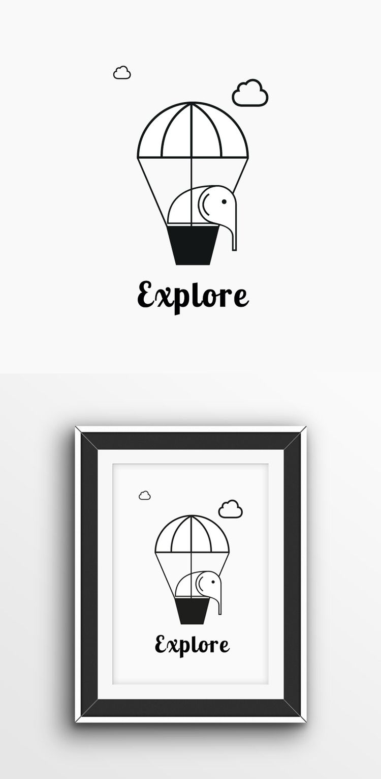 Etsy Store: air balloon, art, p - think73 | ello