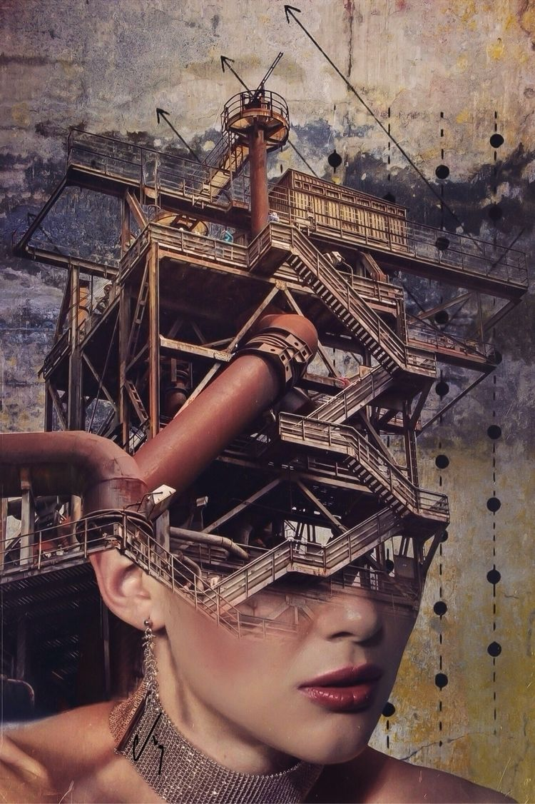 collageart, digitalart, digitalcollage - cashmattock | ello