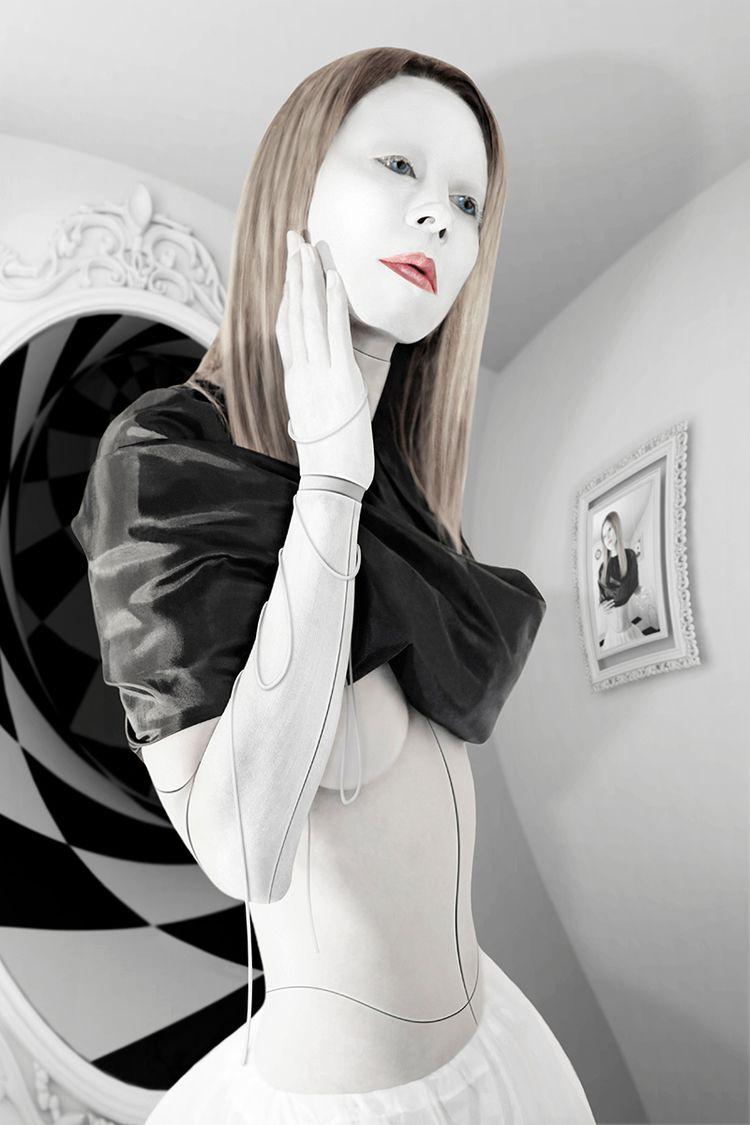 Cyborg Alice Wonderland Visit w - karmillashelly | ello