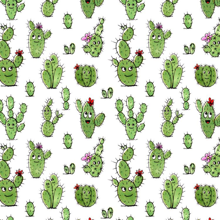 Fabric Pattern Cactus People - spoonflower - piakolle | ello
