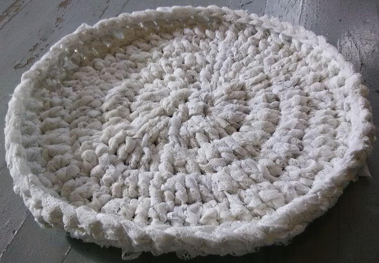 Handmade Crochet Rag Cat Bed Ba - maryherrigfiberarts | ello