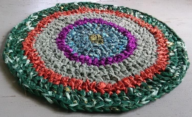 Rag Rug Handmade Crochet 31 Rec - maryherrigfiberarts | ello