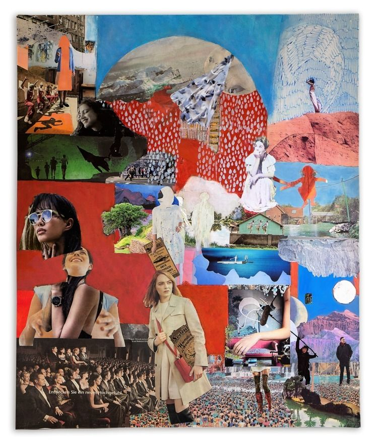 Collage canvas 140cm 120cm, 201 - 11frances | ello