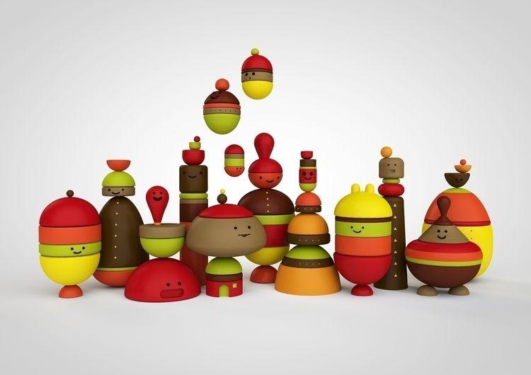 happyfigurines, 3D, illustration - johniseifert | ello
