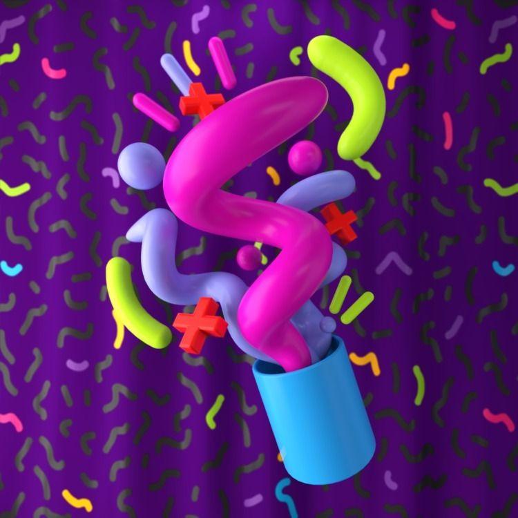 090 - AbstractShiz, cinema4d, design - hashmukh | ello