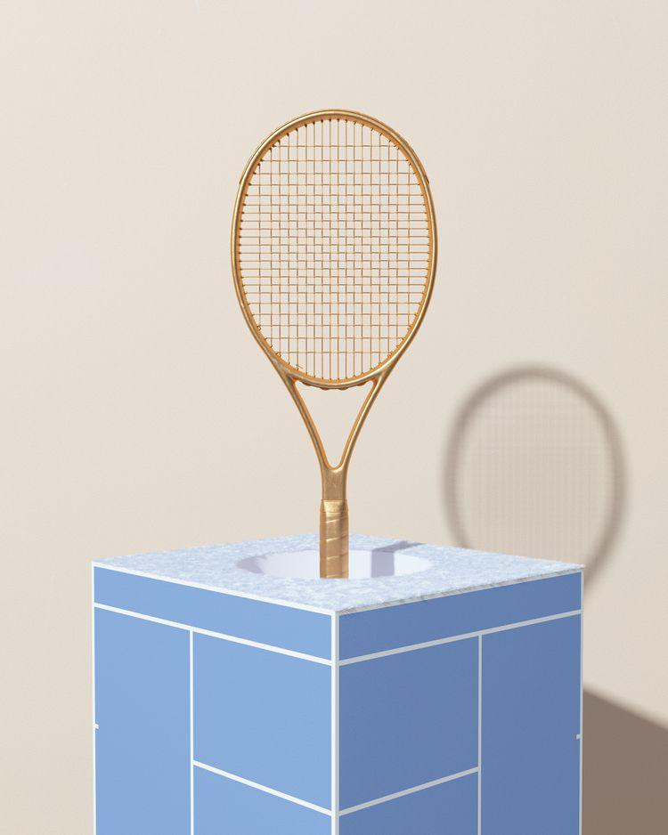TENNIS winner - surreal, minimalism - molistudio | ello