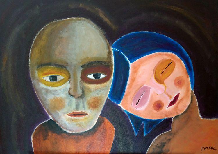 COUPLE Acrylic canvas 70 cm 50 - tmarcoantonio | ello