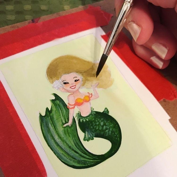 ello! tiny mermaid painting, ca - amandashelton | ello