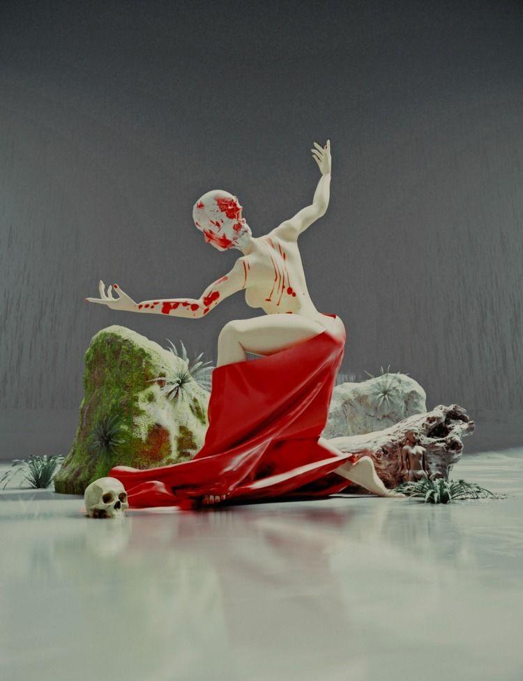 Dancer Death - surreal, 3d, visual - vinhlam | ello