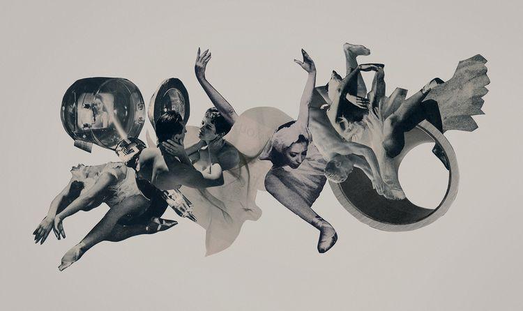 Dance cut paper collage 21 12  - joecastro | ello