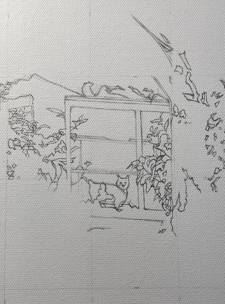 canvas sketch upcoming show - elloart - jolenelaiart | ello