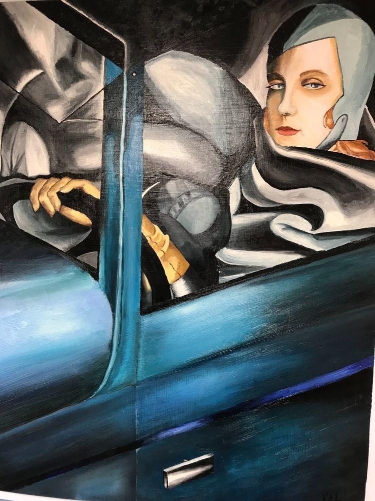 portrait Tamara de Lempicka Mia - katbearfoot   ello