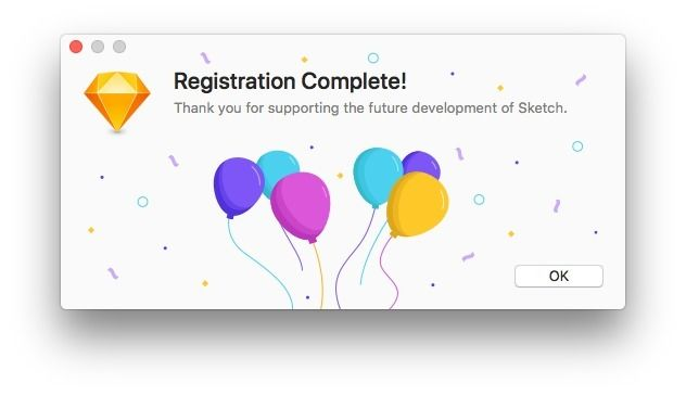 Sketch app, registration comple - feliphe | ello