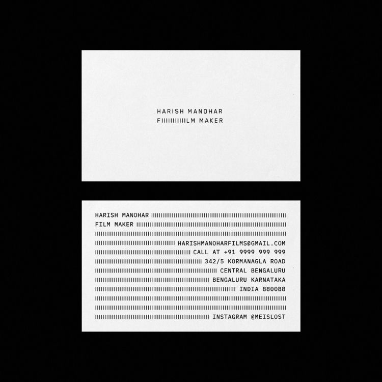 Business Card Film Maker - design - pandeindia | ello