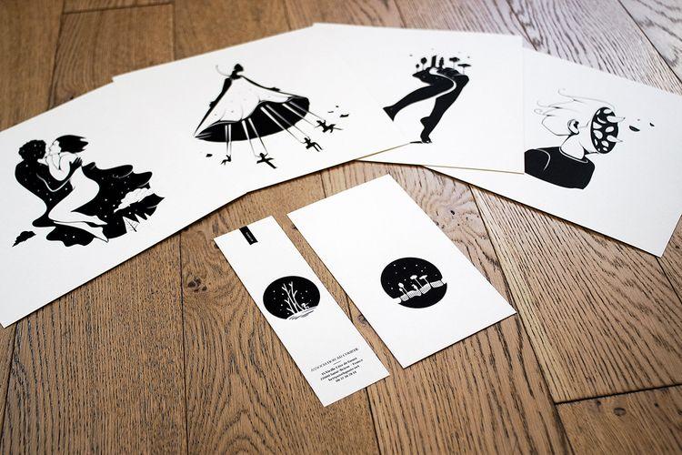cards (screenprint) poetry book - dezzig   ello