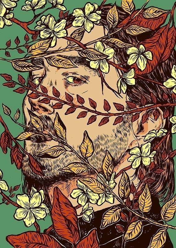 Dead pretty Ink paper + Digital - nicolaenegura | ello