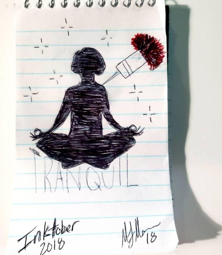 Tranquil - inktober, tranquil, inktober2018 - darthmaulanie | ello