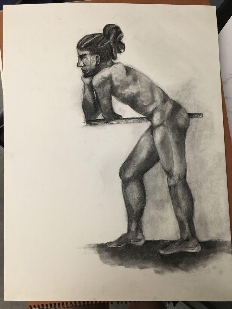 9/25/2018 - drawing, charcoal, figuredrawing - murialbezanson | ello