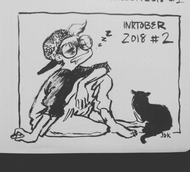 Day 2: draw comic tired - inktober - vercher_ink | ello
