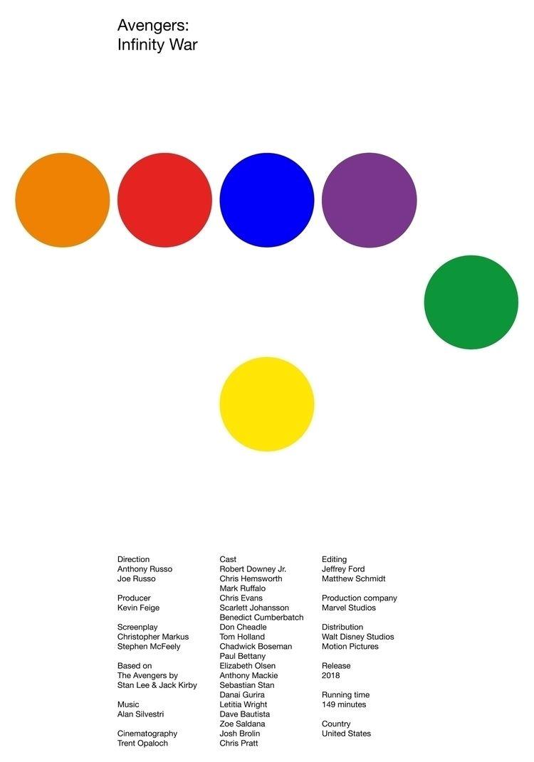 Poster Avengers: Infinity War,  - ludwigmattsson | ello