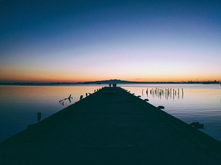 pier sunset - bay, dock, polaroid - fedodes | ello