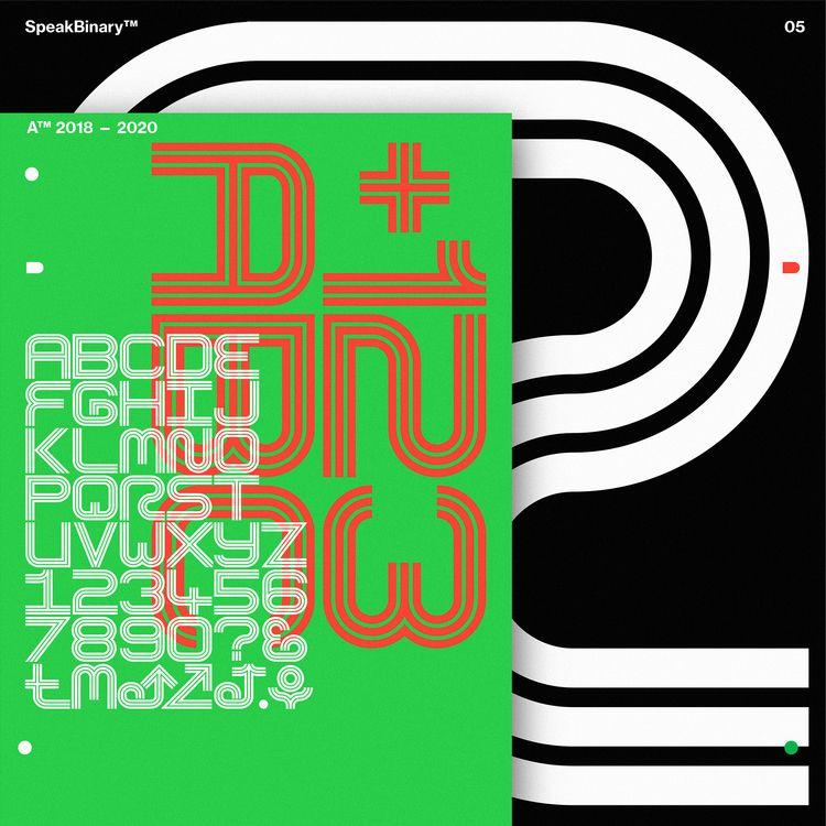 Binary Typeface:tm: - Anthony N - anthonyneildart | ello