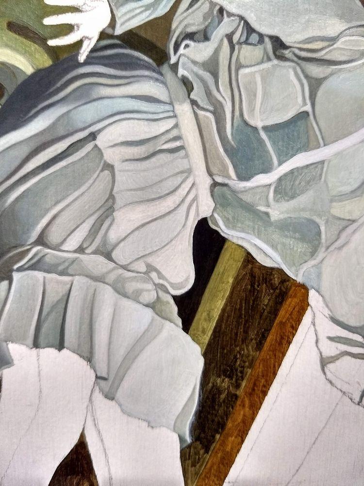 Pale blue hues dress making stu - jolenelaiart | ello