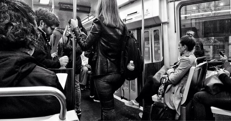 strangers train - theT, underground - electrachrome | ello