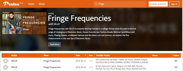 Fringe Frequencies ProtonRadio - villo | ello
