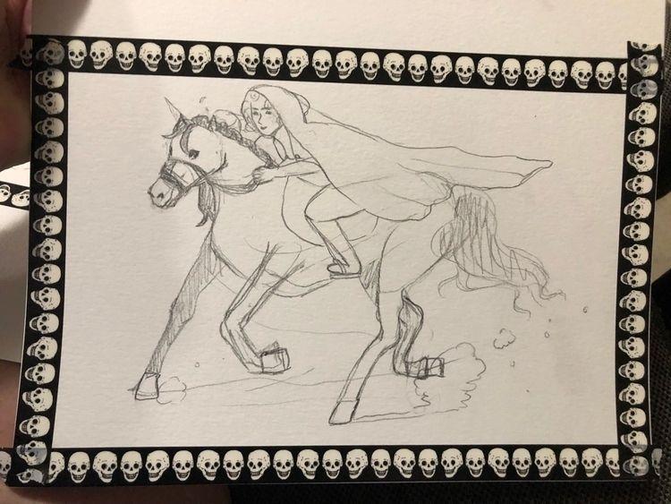 Sketch inktober day 7 - inktober2018 - helenajade | ello